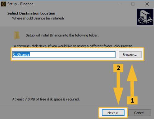 Установка Binance на Windows